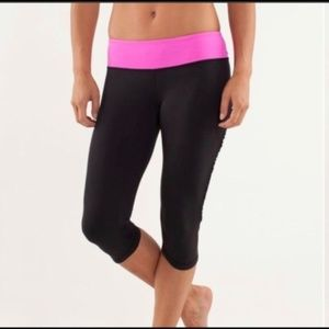 lululemon athletica Pants - Lululemon Black Run Fast and Free Cropped Pants